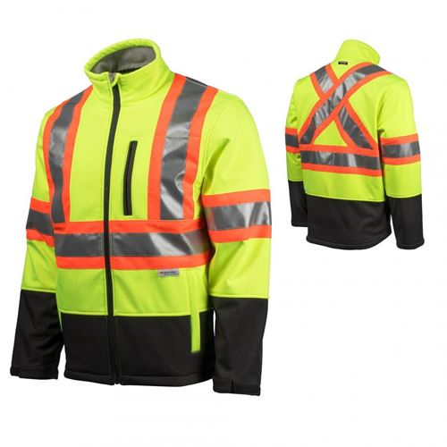 Picture of TERRA® Yellow Hi-Viz Softshell Jacket with Reflective Tape