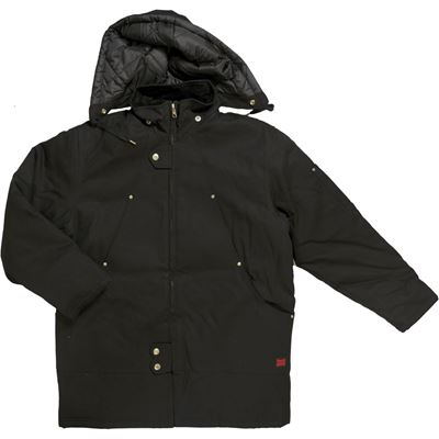 Picture of Tough Duck WJ18 Abraham Black 12 oz. Cotton Duck Hydro Parka