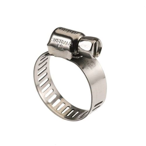 """Picture of Tridon Gear Clamp MAH Series - Perforated, All Stainless - 7/32"""" - 5/8"""""""