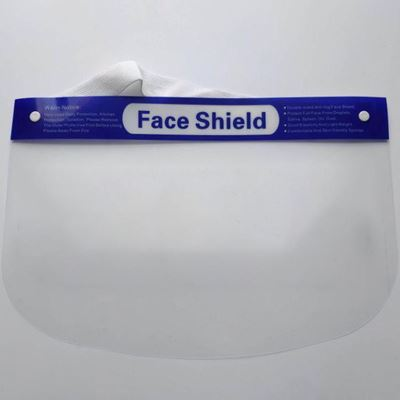 Picture of Clear Face Shields with Foam Forehead Band