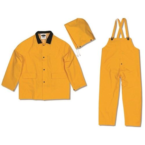 Picture of Viking® 35100 Series Yellow Open Road Light Industrial 3 Piece Rain Suit