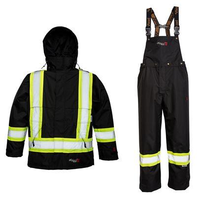 Picture of Viking® 3907FR Series Black Professional Journeyman 300D FR Rain Suit