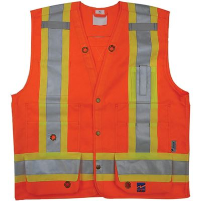 Picture of Viking® 6165 Series Orange Open Road® Surveyor Vest