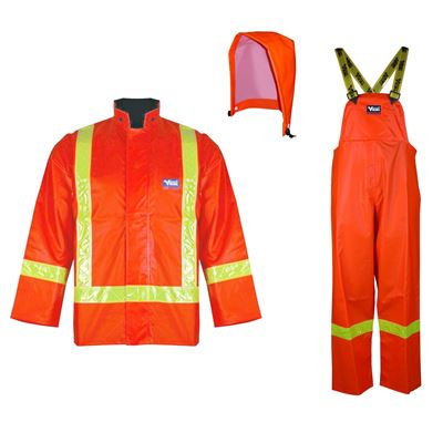 Picture of Viking® 6210 Series Orange Journeyman Hi-Viz PVC Rain Suit