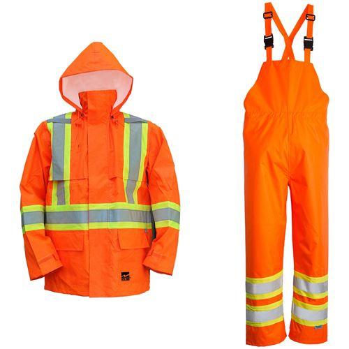 Picture of Viking® 6323 Series Orange Open Road® 150D Hi-Viz Rain Suit