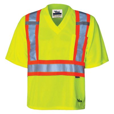 Picture of Viking® Green 6005 Journeyman V-Neck Safety Shirt