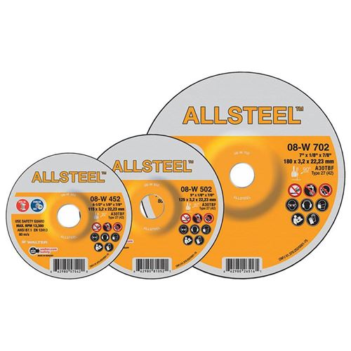 Picture of Walter ALLSTEEL™ Grinding Wheels - Type 27 (Depressed Centre)
