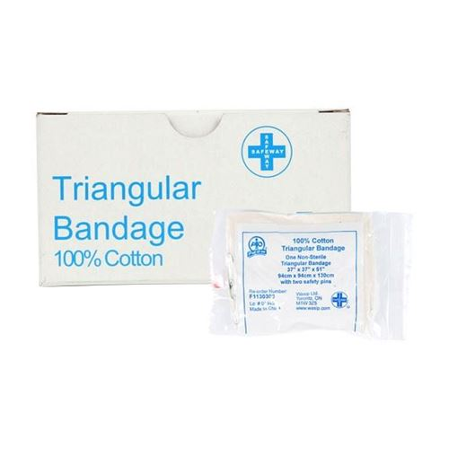"""Picture of Wasip Cotton Triangular Bandage - 40"""" x 40"""" x 55"""""""