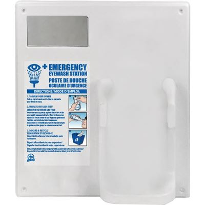 Picture of Wasip Empty Single Eyewash Panel with Mirror (For 1L Bottle)