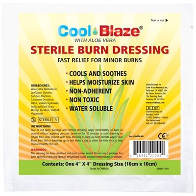 "Picture of Wasip CoolBlaze Sterile Burn Dressing, 4"" x 4"""