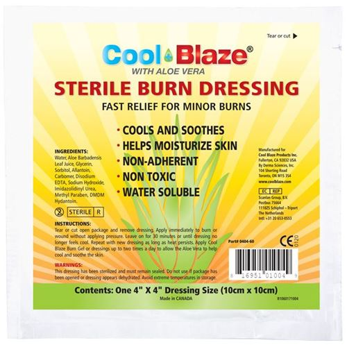 """Picture of Wasip CoolBlaze Sterile Burn Dressing, 4"""" x 4"""""""