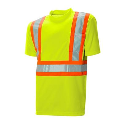 Picture of Wasip Lime Green Polyester Traffic T-Shirt