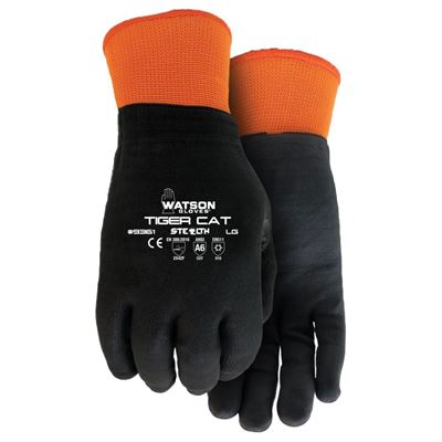 Picture of Watson 9361 Stealth Tiger Cat Acrylic Terry Brushed Lined Gloves