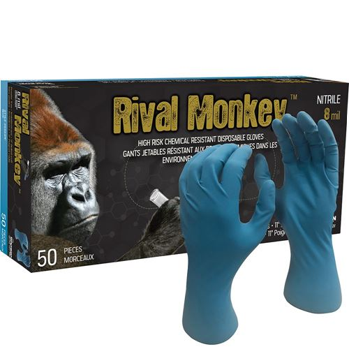 Picture of Watson Rival Monkey™ 5551PF Blue Nitrile Gloves