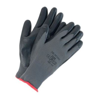 Picture of Wayne Safety Black Foam Nitrile Palm-Coated Gloves - Size 7