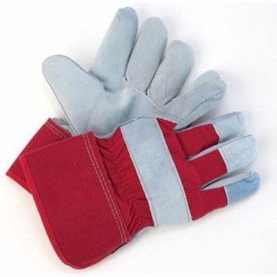 Picture of Wayne Safety Split Leather Gloves with Fleece/Foam Lining - One Size