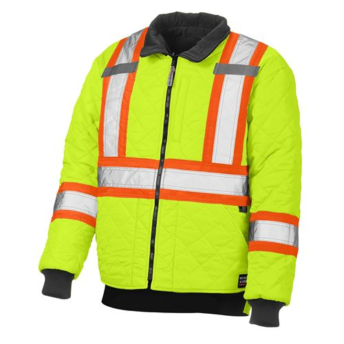Picture of Work King® S241 Lime Green Duck/Safety Reversible Jacket