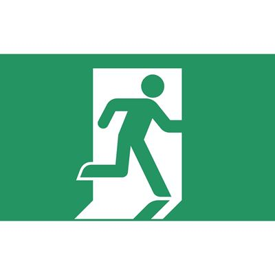 """Picture of Exit Sign (Glow in the Dark) - 7"""" x 10"""""""