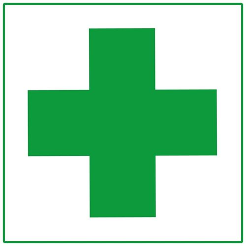 """Picture of First Aid Cross Decal - 2"""" x 2"""""""