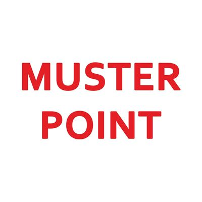 "Picture of Muster Point Sign - 10"" x 14"""